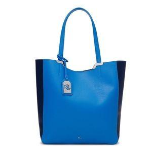 NWT Lauren Ralph Lauren Acadia Blue Tote